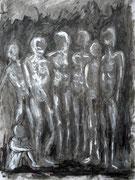 """""""Les ombres debout"""" (sur papier A3)"""