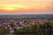 Sonnenuntergang über Heppenheim