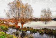 Ein Bild vom Erlacher See wie gemalt