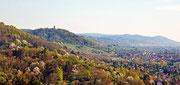 Ausblick vom Kirchberg auf den Odenwald