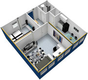 3D эскиз модульного здания Containex