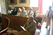 Derrière Monsieur Yves Gazo, Madame Perla Danan représente Madame le Maire de Montpellier, Hélène Mandroux