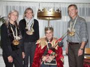Die Beamten 2008: Under  Monika Rossacher Graber, Näll  Vreni Berchtold, König Oski Zumstein, Ober Bruno Abächerli