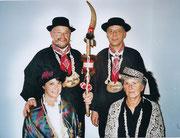 Die Beamten 2006: König Hanspeter Schnider, Ober Sepp Burch, Näll Lucia Nestler, Under Margrit Burch