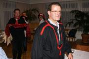 Geisslerversammlung 2010: Stabsübergabe der letztjährigen Beamten: König Toni Halter, Gerald Nestler