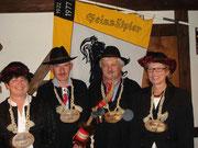 Die Beamten 2007: Under  Anni Imfeld, König Bruno Burch, Ober Oski Köchli, Näll: Vreni Strasser