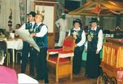 Die Beamten 2001: Ober Bärti Imfeld, König Noldi Burch, Under Rita Enz-Schaller, Näll Berta Enz