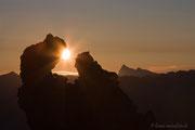 Sonnenaufgang auf der Roßzahnscharte
