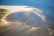 Wattenmeer Luftaufnahme, Baltrum