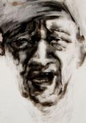 tOG No.27 - Tina Wohlfarth - Lake Erie - Ruß auf Papier, 59,4 x 42cm, 2014, mit Objektrahmen 70 x 50 cm
