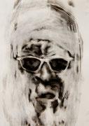 tOG No.30 - Tina Wohlfarth - St. Clair - Ruß auf Papier, 59,4 x 42cm, 2014, mit Objektrahmen 70 x 50 cm