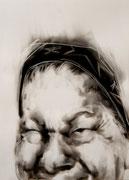 tOG No.31 - Tina Wohlfarth - Superior - Ruß auf Papier, 59,4 x 42cm, 2014, mit Objektrahmen 70 x 50 cm