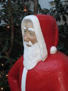 Betonfigur-Weihnachtsmann, Detailaufnahme