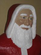 Betonfigur-Weihnachtsmann-Detailaufnahme