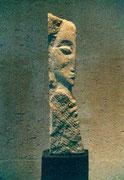 HOHE KÖPFE I.1 1987 Sandstein, Holz 170 cm