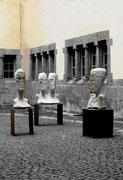 METAMORPHOSEN Part I-III 2001 Sandstein auf Eisen Höhe 150 cm