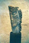 HOHE KÖPFE II.4 1993 Sandstein, Holz 140 cm