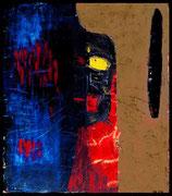 INDIAN SPIRITS II 2001 Mischtechnik auf Leinwand 100 x 120 cm