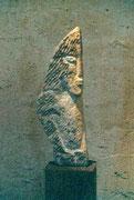HOHE KÖPFE II.5 1993 Sandstein, Holz 160 cm
