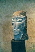 HOHE KÖPFE II.3 1993 Sandstein, Holz 150 cm