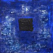 BLAUES BILD 1999 Mischtechnik auf Leinwand 90 x 90 cm