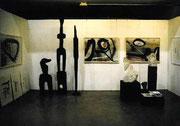 Thüringer Kunstmesse artthuer 2000 Stein, Holz, Papier 2 x 5 m