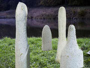WASSERSTEINWALD (Detail) 2001 Sandstein Höhe 60 - 170 cm