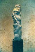 HOHE KÖPFE II.1 1993 Sandstein, Holz 170 cm