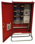Baustromverteiler in Signalrot