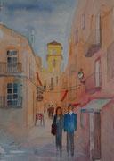 Menschen in der Stadt Eivissa