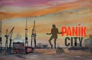 Panik City, Collage am PC als Druck mit Passp. für Rahmen 40x50 cm, 60 Euro