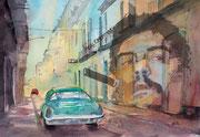 Havanna-Che Collage am PC als Druck erhältl. mit Passpartout f. Rahmen 40x50 cm 65 Euro