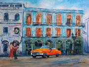 Dancing in Havanna, Collage am PC als Druck mit Passpartout f. Rahmen 40x50 cm 60 Euro