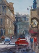 Havanna Car, Collage am PC als Druck mit Passpartout f. Rahmen 40x50 cm, 60 Euro