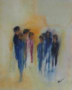 Menschen im Gespräch, Acryl 60x80, vergeben