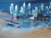 unter dem Pflaster liegt der Strand, Collage als Druck mit Passp. für Rahmen 40x50 cm, 60 Euro
