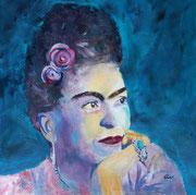 Frida. Mischtechnik auf Keilr. 60x60 cm, Kursarb. B. KLimmer 260 Euro