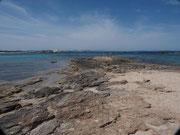 uns so sah der Strand auf Formentera aus