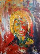 Elvira kunterbunt, Acryl auf Keilrahmen 60x80 cm unverkäuflich