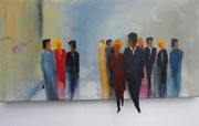 coming out, Acryl 50x100 cm, vergeben