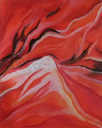 Seelenfeuer - 70 x 100 - Acryl auf Leinwand im Schattenfugenrahmen - 360,-