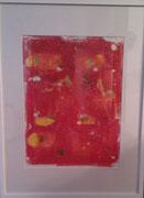 Elements 2 - Monotypie und Blattgold auf Papier - gerahmt - 120,-