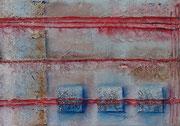 Structures III - 22 x 33 - Acryl und Mixed Media auf Leinwand im Schattenfugenrahmen- 50,-