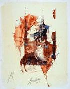 oil on cardboard, 55x43 cm