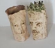 Herrscherpaar,2020.Keramik, (24x17x179cm u (23x14x10)cm