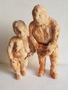 Philemon und Baucis,2019,Keramik,(H:30cm.25)cm