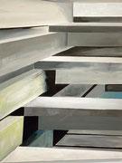 Treppe, 60 x 80 cm, Acrylfarben auf Keilrahmen, datiert und signiert 2020
