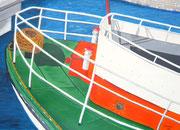Kieler Hafen - 70 x 50 cm, Acrylfarben auf Papier, signiert und datiert 2011