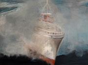 Aus dem Nebel - 80 x 60 cm, Acrylfarben auf Keilrahmen, signiert und datiert 2015