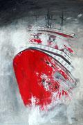 schwere See 1 - 70 x 50 cm, Acrylfarben auf Papier, signiert und datiert 2012
